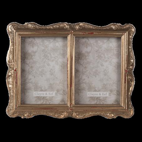 Fotolijst 17*2*22 cm / 10*15 cm (2) Goudkleurig | 2F0826 | Clayre & Eef