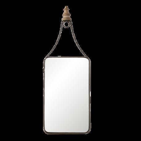 Spiegel 18*1*52 cm Zwart   62S227   Clayre & Eef