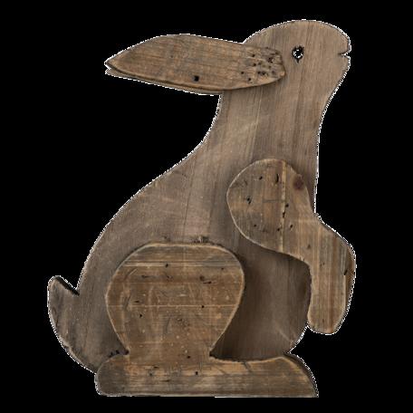 Decoratie konijn 20*12*26 cm Bruin   6H2022   Clayre & Eef