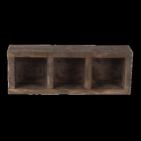 Vakkenbak 33*12*7 cm Bruin | 6H1987 | Clayre & Eef