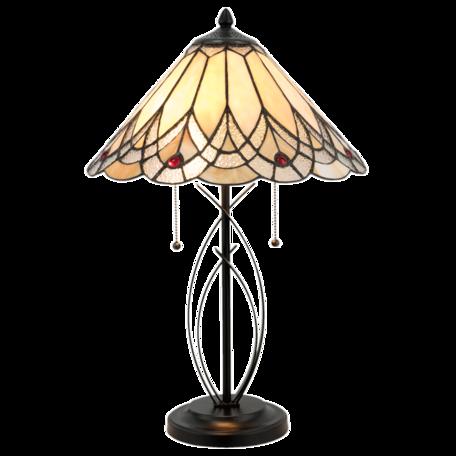 Tafellamp Tiffany ø 40*60 cm E27/max 2*60W Creme | 5LL-5186 | Clayre & Eef