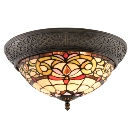 Plafondlamp Tiffany ø 38*20 cm E14/max 2*40W Multi   5LL-5909   Clayre & Eef