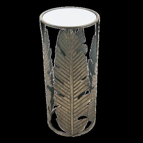Bijzettafel (set van 2) ø 39*82 / ø 31*72 cm Koperkleurig | 5Y3474 | Clayre & Eef