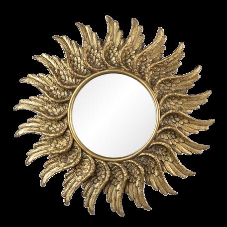 Spiegel ø 47*3 cm Goudkleurig | 62S229 | Clayre & Eef