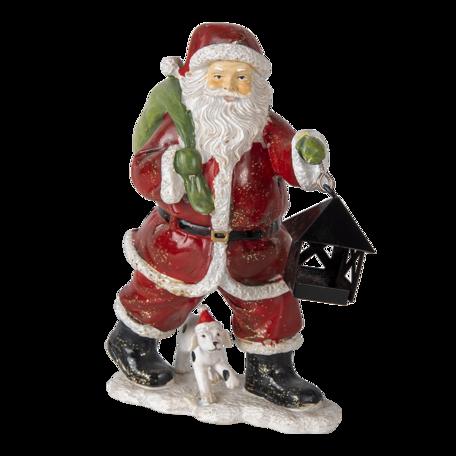 Decoratie kerstman met rendier 11*6*15 cm Multi | 6PR4724 | Clayre & Eef