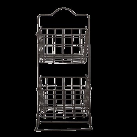 Rek met manden 25*25*57 cm Zwart | 6Y4303 | Clayre & Eef