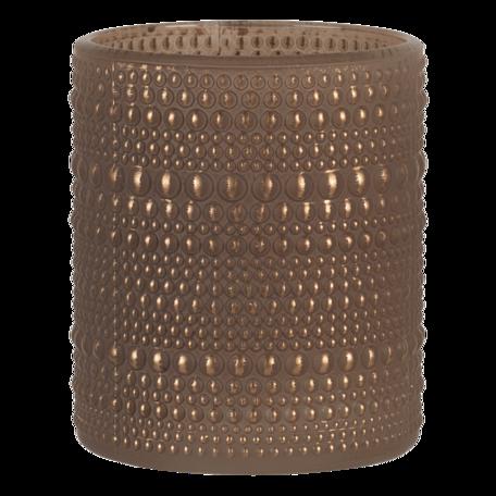 Waxinelichthouder ø 8*10 cm Goudkleurig   6GL3232   Clayre & Eef