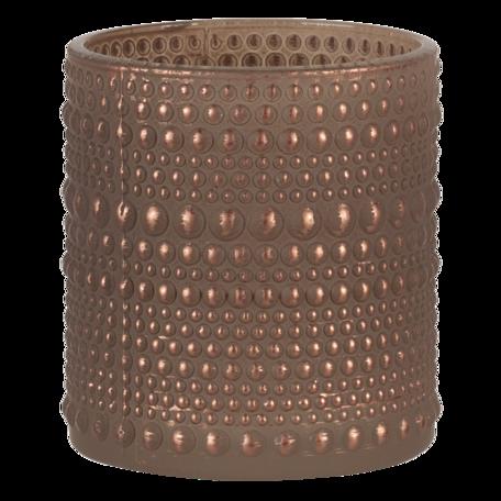 Waxinelichthouder ø 7*8 cm Goudkleurig   6GL3233   Clayre & Eef