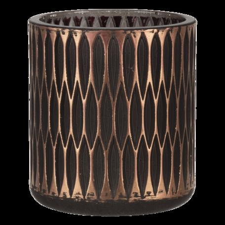 Waxinelichthouder ø 8*9 cm Goudkleurig   6GL3235   Clayre & Eef