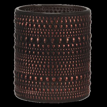 Waxinelichthouder ø 9*10 cm Goudkleurig   6GL3237   Clayre & Eef