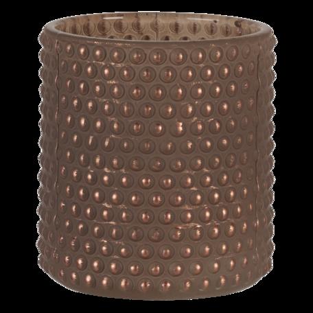 Waxinelichthouder ø 8*9 cm Bruin   6GL3239   Clayre & Eef