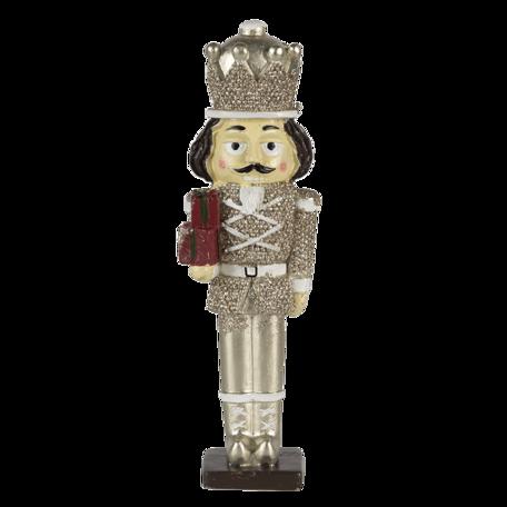 Decoratie notenkraker 6*4*19 cm Zilverkleurig | 6PR3401M | Clayre & Eef