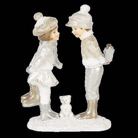 Decoratie kinderen 13*5*17 cm Zilverkleurig   6PR4663   Clayre & Eef