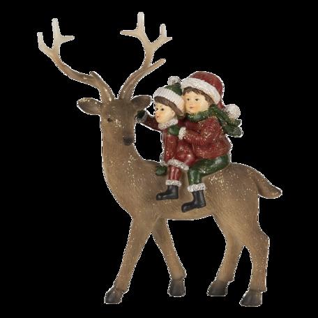 Decoratie kinderen met rendier 17*7*20 cm Multi   6PR4673   Clayre & Eef