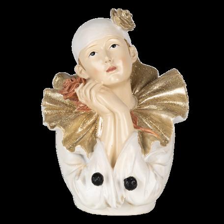 Decoratie clown 11*11*15 cm Multi   6PR4733   Clayre & Eef