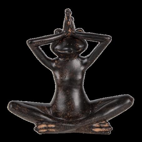 Decoratie kikker 15*6*14 cm Zwart | 6PR3387 | Clayre & Eef