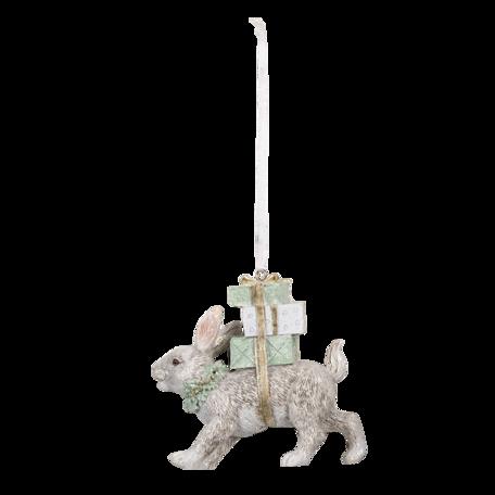 Decoratie hanger konijn 9*3*9 cm Multi | 6PR3465 | Clayre & Eef