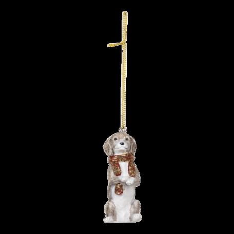 Decoratie hanger hond 4*3*8 cm Grijs | 6PR3491 | Clayre & Eef