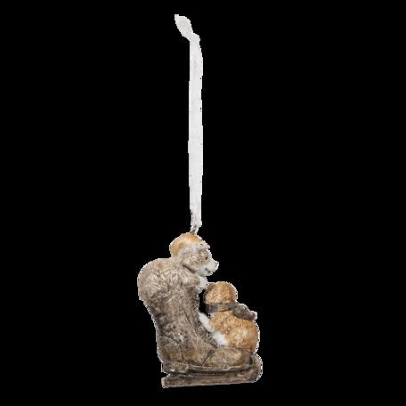 Decoratie hanger hond 6*2*8 cm Multi | 6PR4641 | Clayre & Eef