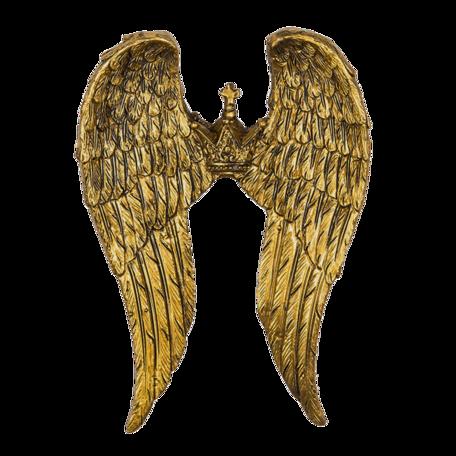 Decoratie vleugels (2) 11*2*15 cm Goudkleurig | 6PR4693 | Clayre & Eef