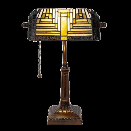 Bureaulamp Tiffany 26*26*42 cm E27/max 1*40W Creme | 5LL-6088 | Clayre & Eef
