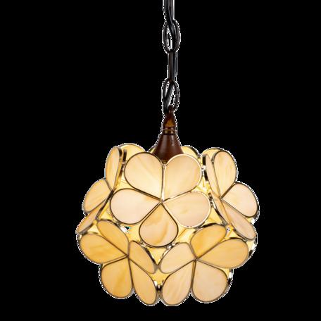 Hanglamp Tiffany ø 25*91 cm E14/max 1*40W Creme | 5LL-6092 | Clayre & Eef