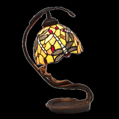 Tafellamp Tiffany 28*20*40 cm E14/max 1*25W Geel | 5LL-6096 | Clayre & Eef