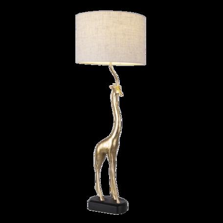Tafellamp giraf ø 30*85 cm E27/max 1*60W Goudkleurig   5LMC0011   Clayre & Eef