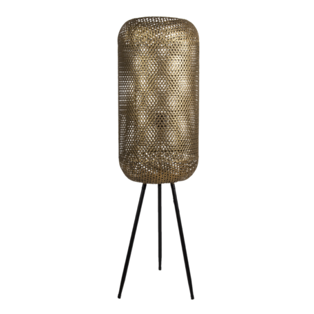 Vloerlamp ø 27*93 cm E27/max 1*60W Goudkleurig | 5LMP637 | Clayre & Eef