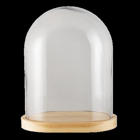 Stolp 26*18*33 cm Transparant | 6GL3009 | Clayre & Eef