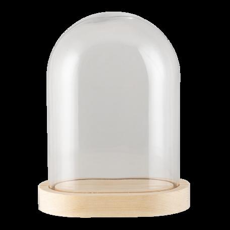 Stolp 17*12*23 cm Transparant | 6GL3010 | Clayre & Eef