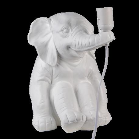 Tafellamp olifant 29*23*34 cm E27/max 1*25W Wit   6LMP726   Clayre & Eef