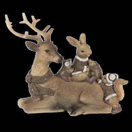 Decoratie dieren 20*11*16 cm Bruin | 6PR3478 | Clayre & Eef