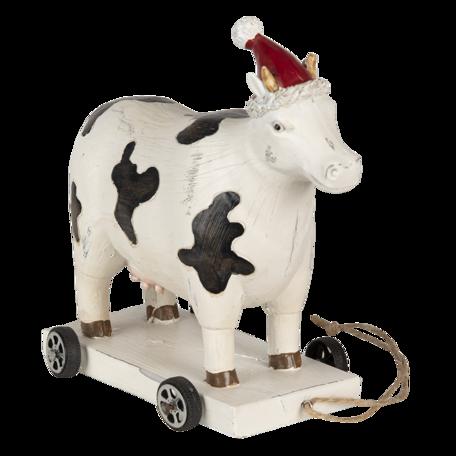 Decoratie koe op wielen 16*8*15 cm Multi | 6PR3502 | Clayre & Eef