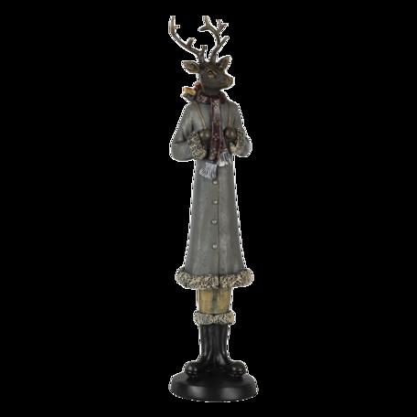 Decoratie hert 9*8*36 cm Multi | 6PR4619 | Clayre & Eef