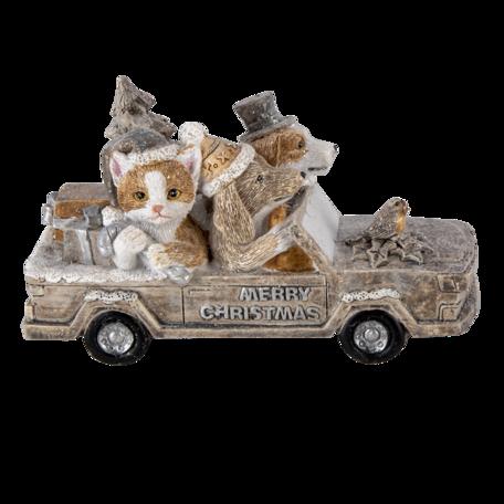 Decoratie dieren in auto 15*7*9 cm Multi | 6PR4638 | Clayre & Eef