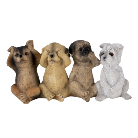Decoratie honden 19*6*9 cm Multi | 6PR4678 | Clayre & Eef
