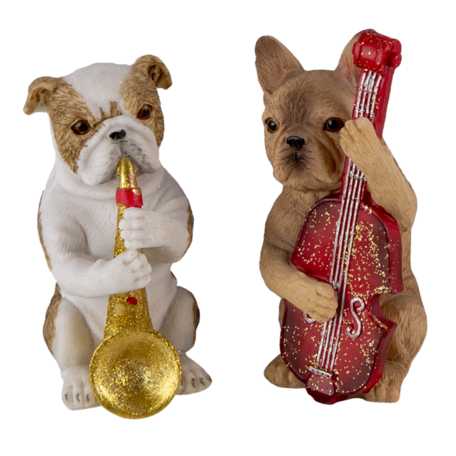 Decoratie honden (set van 3) (3)  14*6*10 cm Multi | 6PR4684 | Clayre & Eef