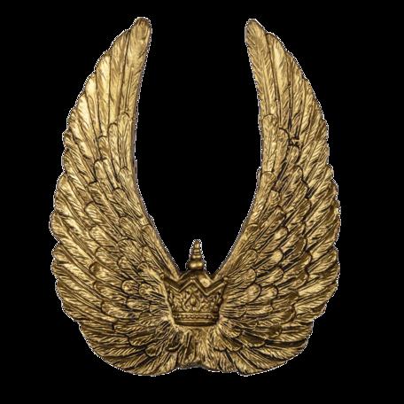 Decoratie vleugels (2) 22*4*28 cm Grijs | 6PR4694 | Clayre & Eef