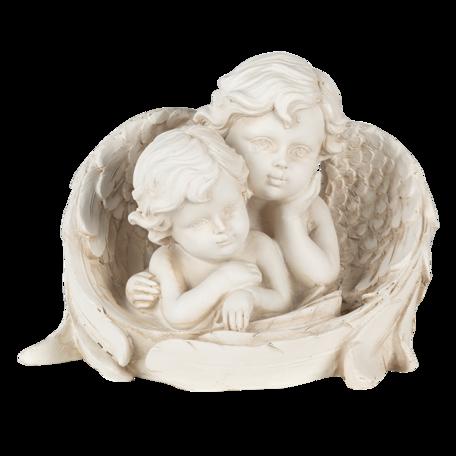 Decoratie engelen 16*10*12 cm Creme | 6PR4707 | Clayre & Eef