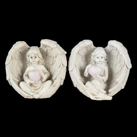 Decoratie engelen (2) 10*6*10 cm Creme | 6PR4708 | Clayre & Eef
