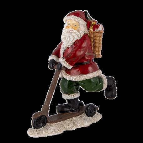 Decoratie kerstman op autoped 13*6*15 cm Multi | 6PR4717 | Clayre & Eef