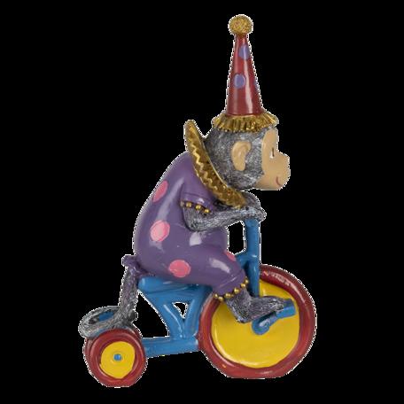 Decoratie aap op driewieler 18*11*20 cm Multi | 6PR4731 | Clayre & Eef