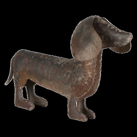 Decoratie hond (teckel) 39*9*26 cm Bruin | 6Y4593 | Clayre & Eef