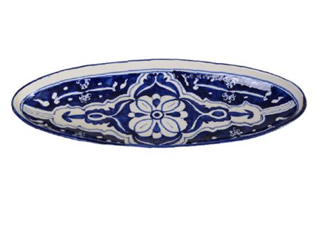 Ovale schaal Blue Fond 50 cm   OS.BLF.50   Dishes & Deco