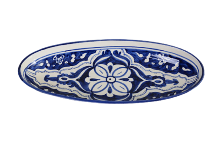 Ovale schaal Blue Fond 40 cm   OS.BLF.40   Dishes & Deco