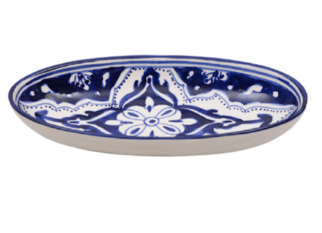 Ovale schaal Blue Fond 30 cm   OS.BLF.30   Dishes & Deco