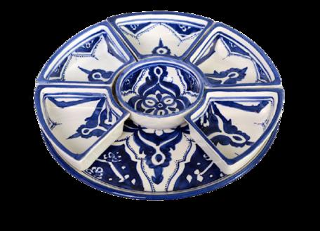 8 delig Tapas schaal Blue Fond Ø 30 cm   TS.BLF.35   Dishes & Deco