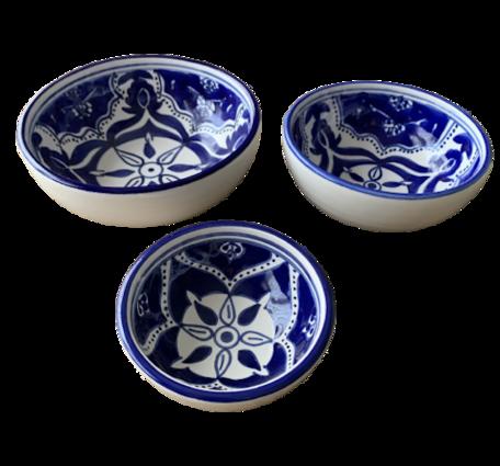 Tapas setje 3 delig Blue Fond   BLF.TP.3D   Dishes & Deco