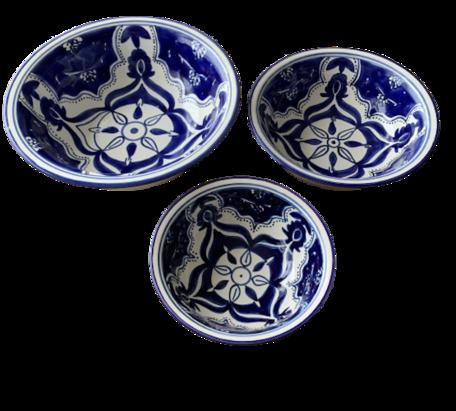 Salade set 3 delig Blue Fond   BLF.SK.3D   Dishes & Deco